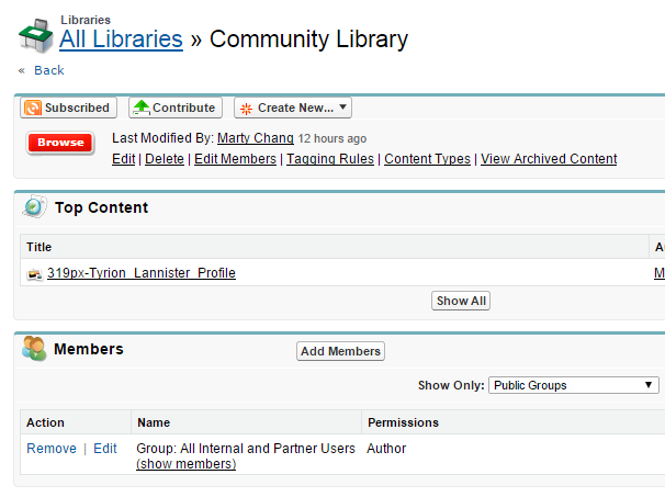 Community Library Public Groups